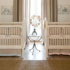 Light Blue Linen Crib Bedding | Baby Boy Linen Crib Bedding | Carousel Designs
