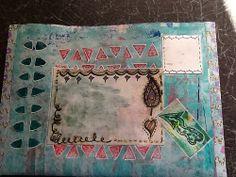 Mixed media mail art envelope