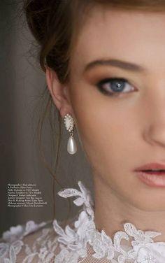 Wedding earrings, Pearl earrings, Bridal earrings, Bride earrings, Bridal earings, Wedding earring, Drop Pearl Earring by Ayajewellery on Etsy