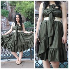 Diane Von Furstenberg Tolara Olive Green Dress As seen on Will Bake for Shoes, olive green strapless Leena DVF dress. Worn 3 times and in great condition. Fits me really big in the bust area and I can't wear it without a belt. Letting go of things that don't fit right, so my loss is your gain! NO PAYPAL OR TRADES.                                                                              Blog: willbakeforshoes.com Twitter: @willbakeforshoe Instagram: @willbakeforshoes Diane von Furstenberg…