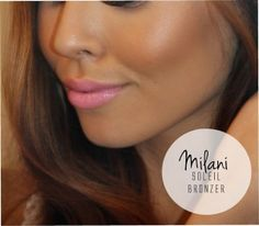 "Product Spotlight: Milani Baked Bronzer ""Soliel"" and MAC ""st germain"" lipstick."