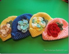 Newborn Hats - free crochet pattern