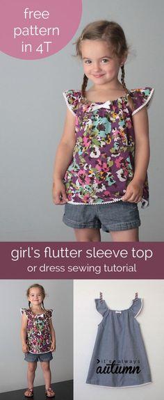 flutter-sleeve-dress-top-how-to-sew-girls-pattern