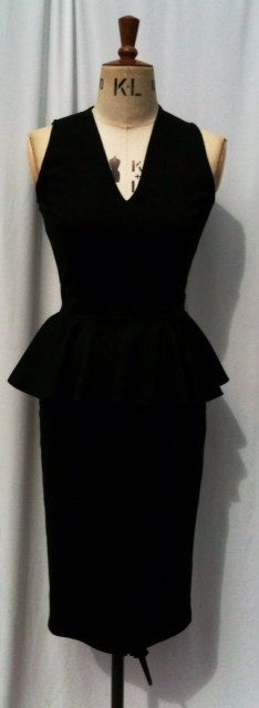 Your place to buy and sell all things handmade Pencil Dress, Peplum Dress, Low Cut Dresses, Dressed To The Nines, You Look Like, Burlesque, Knight, Pin Up, How To Wear