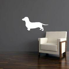 Daschund Wall Decal  Wiener Dog Vinyl Sticker 24 by urbandecal, $26.00