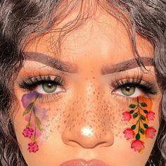 grafika flowers, girl, and eyes