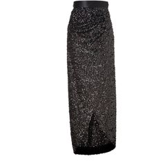 RACHEL ZOE Black Sequined Abby Maxi Skirt ($374) ❤ liked on Polyvore