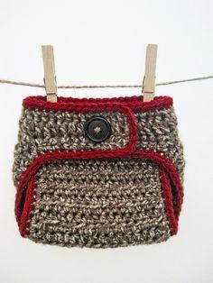 Sock Monkey Diaper Cover