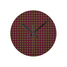 Maroon Blend Round Wall Clock!  #zazzle #store #pattern #gift #present #customize #simple http://www.zazzle.com/patternsbydww25921*