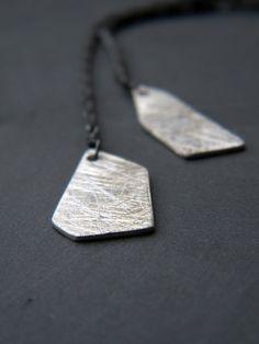 Chain Asymmetrical Earrings Sterling Silver Urban and by alibli