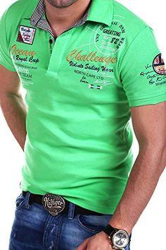 MT Styles Poloshirt CHALLENGE T-Shirt R-2728 [Grün, L]