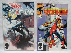 Web of Spider-Man Comic Books Issues 1 and 2 VF