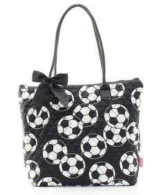 QUILTED Soccer Print Tote Bag : FREE MONOGRAM