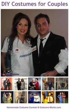 Homemade Costumes for Couples - this website has tons of DIY costume ideas! by Liz Linberger
