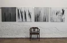 abstrakte Malerei, abstrakte Kunst, Serie Novembernebel, je Bild 100/100 cm