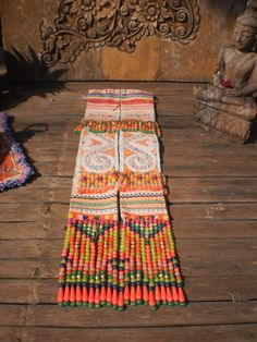 Embroided Textile  Tribal  Panel By The Hmong Hilltribe People on Etsy, $10.00