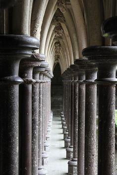 Mont-Saint-Michel - #Monastery - Columns | France