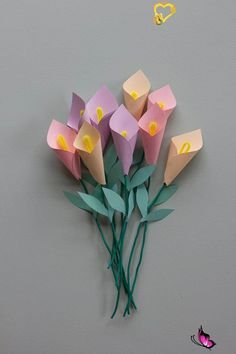 Learn How to Make these Paper Calla Lillies — Clever Poppy  <br> There is no doubt any mum LOVES to be given flowers, they are such a symbol of happiness and love. But how about giving her a bouquet of flowers she can keep, which have been created with love by your own hands? Mothers Day Crafts For Kids, Diy Mothers Day Gifts, Kids Crafts, Flowers For Mothers Day, Diy Gifts For Mom, Diy Gift Box, Crafts For Kids To Make, Happy Mothers, How To Make