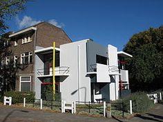 Rietveld Schröderhuis 1924- Wikipedia  Utrecht, the Netherlands