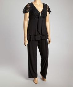 d8b9d77ae77 Black Studded Lace Sleeveless Dress - Plus by R M Richards  zulilyfinds