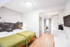 Furnished apartments, hostels and aparthotels in Scandinavia - Forenom Furnished Apartment, Stay The Night, Kitchenette, Helsinki, Hostel, Room, Bedroom, Kitchenettes, Rum