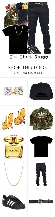 """"" by loyalnene ❤ liked on Polyvore featuring Junk Food Clothing, Gwaan, adidas, Versace, October's Very Own, Yves Saint Laurent and Gucci"