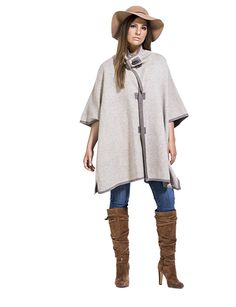 Michelle Toggle Poncho in Oatmeal Winter Collection, Plus Size Women, Curvy, Tunic Tops, Oatmeal, Sweaters, Stuff To Buy, Clothes, Apple