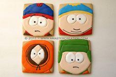 South Park cookies!    ...BTW, GET YOUR SOUTH PARK APP:  https://play.google.com/store/apps/details?id=com.JERASeng.Worldsouthpark