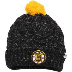 9d16e05c14c Womens Boston Bruins  47 Brand Black Fiona Knit Beanie