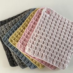 Crochet Squares, Crochet Motif, Crochet Patterns, Ann Louise, First Apartment Decorating, Crochet Dishcloths, Potholders, Projects To Try, Blanket
