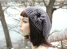 Ward off the chill of winter with this Slouchy Crochet Hat. This free crochet hat pattern features a slouchy style that hangs just below the ears. It's a beautiful and easy pattern to craft, and this crochet pattern even features a decorative flower that adds an extra touch of flair. You'll love sporting this hat for an afternoon walk through the snow. It's cute, fashionable, and fun! With this free crochet pattern, you can look stylish while keeping your head protected from the f...