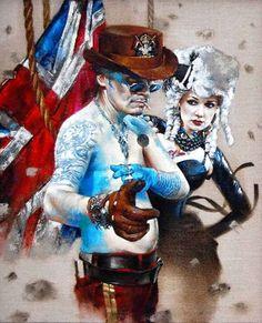 "Saatchi Online Artist Morgan Penn; Painting, ""Adam Ant is the Blue Black Hussar"" #art"