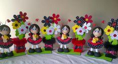 Centros de Mesa. Fiesta estilo Ladybugs. Fofuchas Mariquitas