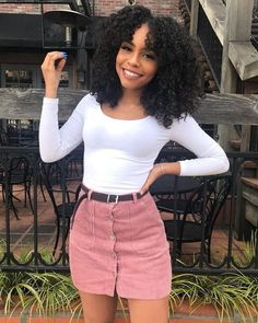 Regular price GBP Sale Afro Kinky Curly Lace Front Wig Real Human Hair For Black Women Source by women clothes Fashion Killa, Look Fashion, Teen Fashion, Fashion Outfits, Womens Fashion, Fashion Clothes, Black Women Fashion, Black Women Style, Spring Fashion
