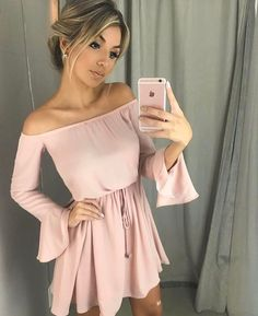Little pink homecoming Dress For Summer Party Dress Sexy Dresses, Cute Dresses, Casual Dresses, Short Dresses, Casual Outfits, Fashion Dresses, Fashion Belts, Fashion Rings, Sweater Dresses