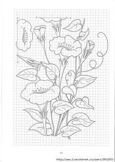Gallery.ru / Фото #144 - Рисунки для вышивки гладью, лентами и ришелье-3 - Vladikana