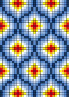 Free cross stitch pattern or tapestry crochet Broderie Bargello, Bargello Needlepoint, Bargello Quilts, Bargello Patterns, Tapestry Crochet Patterns, Bead Loom Patterns, Doily Patterns, Quilt Pattern, Dress Patterns