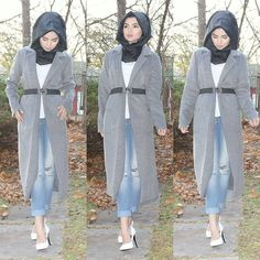 """""""Weather forecast indicates snow fall this week... all my Canadian friends get ready to bundle up. Its going to be a long winter  #jummahmubarak #hijab…"""""""