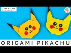 Pokémon Origami Crafts - How to Fold Origami Pikachu Pokémon Go - Easy Origami Instructions for Kids - YouTube