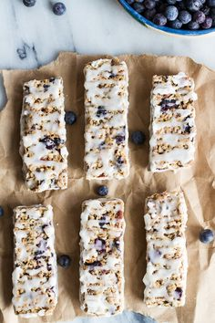 Blueberry Vanilla Greek Yogurt Granola Bars.