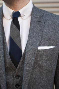 Sharp Gray Textured Suit