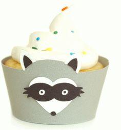 View Design: raccoon cupcake wrapper