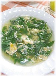 モロヘイヤスープのレシピ・作り方【簡単人気ランキング】|楽天レシピ 夏バテにモロヘイヤのかき玉スープ