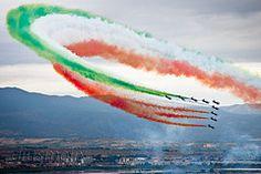frecce tricolori -viva italia!