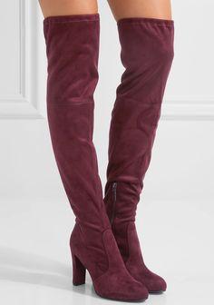 0b0587e8f8a Sam Edelman  Kent  Stretch-Suede Over-the-Knee Boots Thigh High