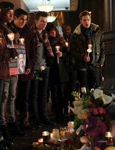 Blaine, Kurt, Rachel, Sam