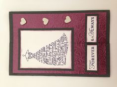 Wedding card Stampin Up Love & Laughter
