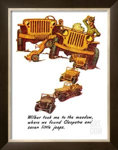 """""""The Wonderful Life of Wilbur the Jeep"""" E, January 29,1944 Giclee Print by Norman Rockwell at Art.com"""