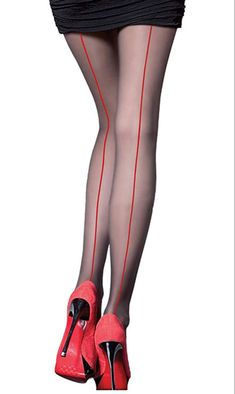 Abberrki Sexy Back Seam Tights - See more tights at www.fashion-tights.net ‪#tights #pantyhose #hosiery #nylons #fashion #legs‬ #legwear #advertising #influencer #collants