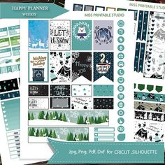 JanuaryWinter Printable planner stickersHAPPY PLANNER